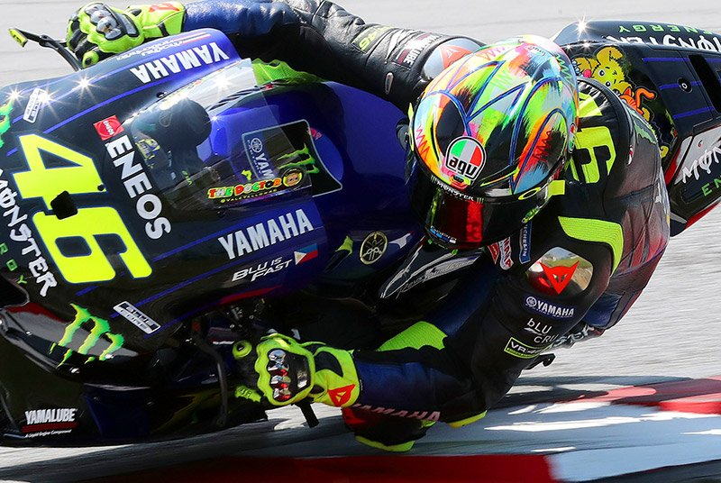 Colourful Rossi helmet