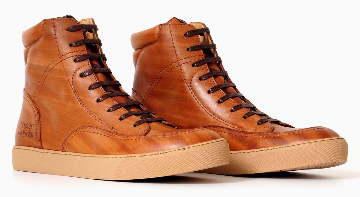 Rokker City Sneaker light brown left to right
