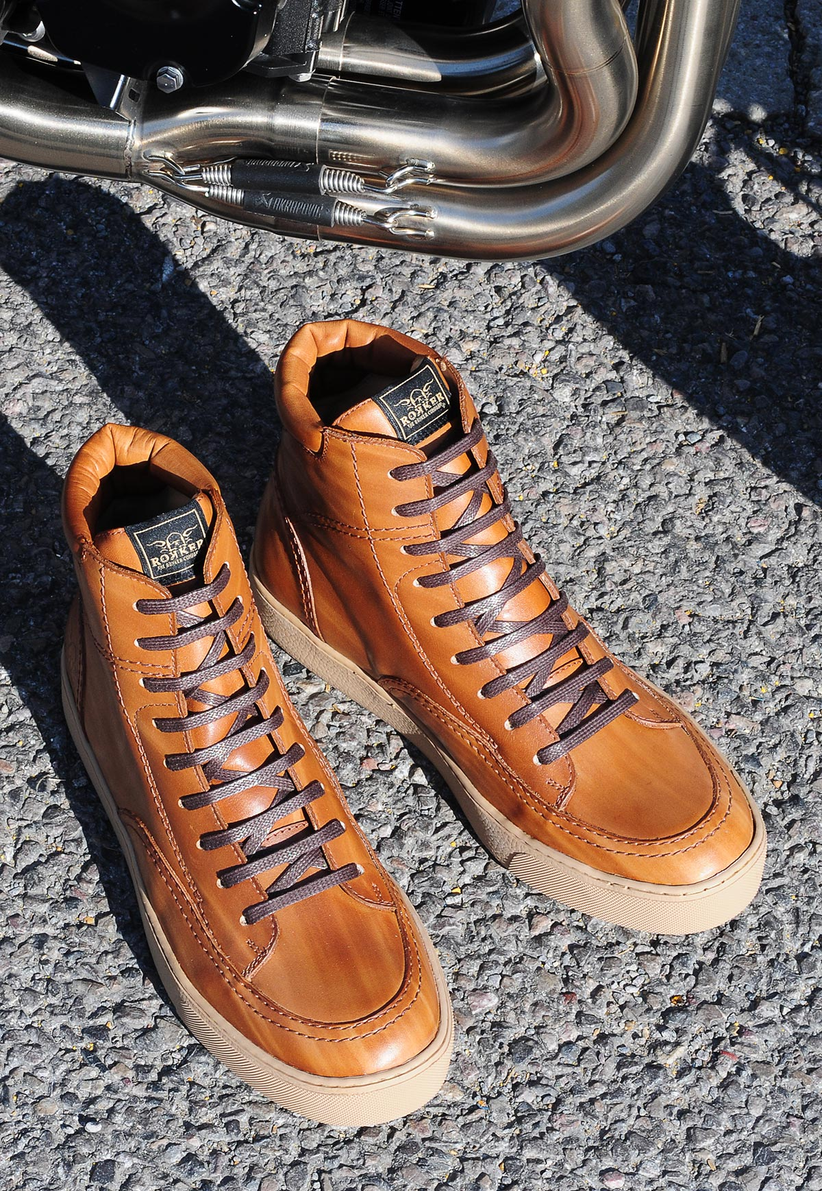 Rokker City Sneaker light brown lifestyle