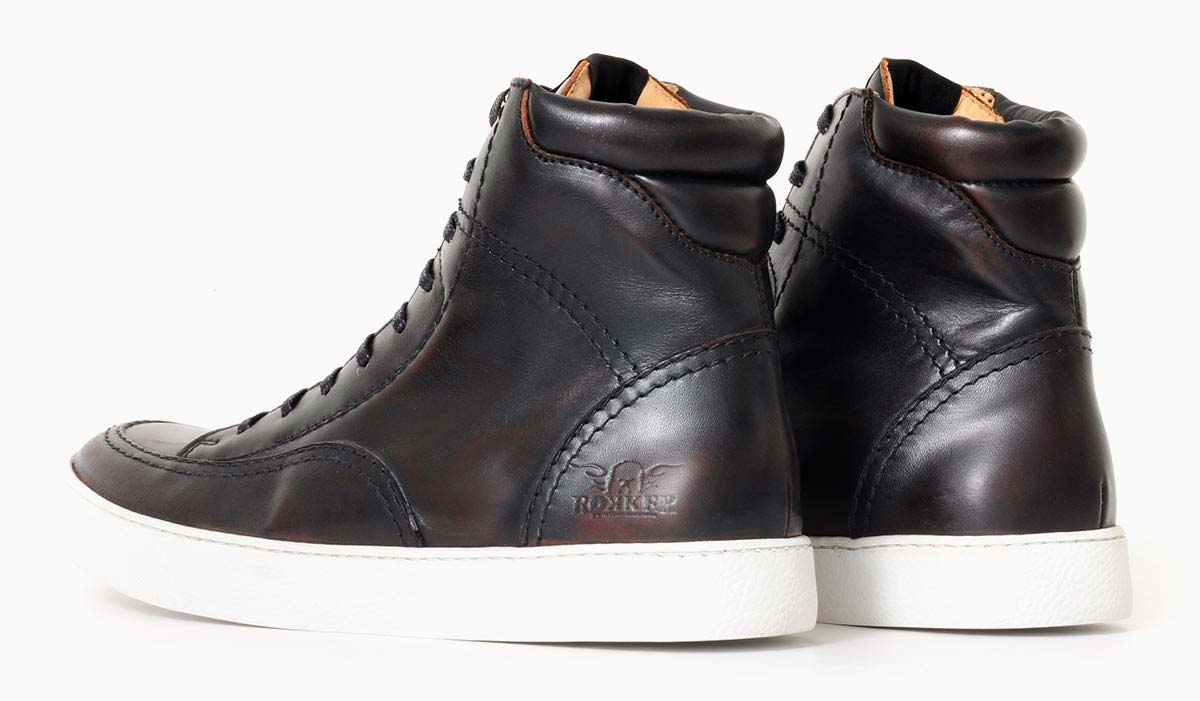Rokker City Sneaker antique black right to left