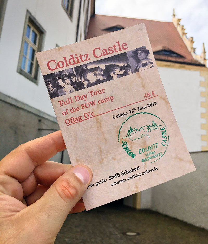 Colditz tour ticket