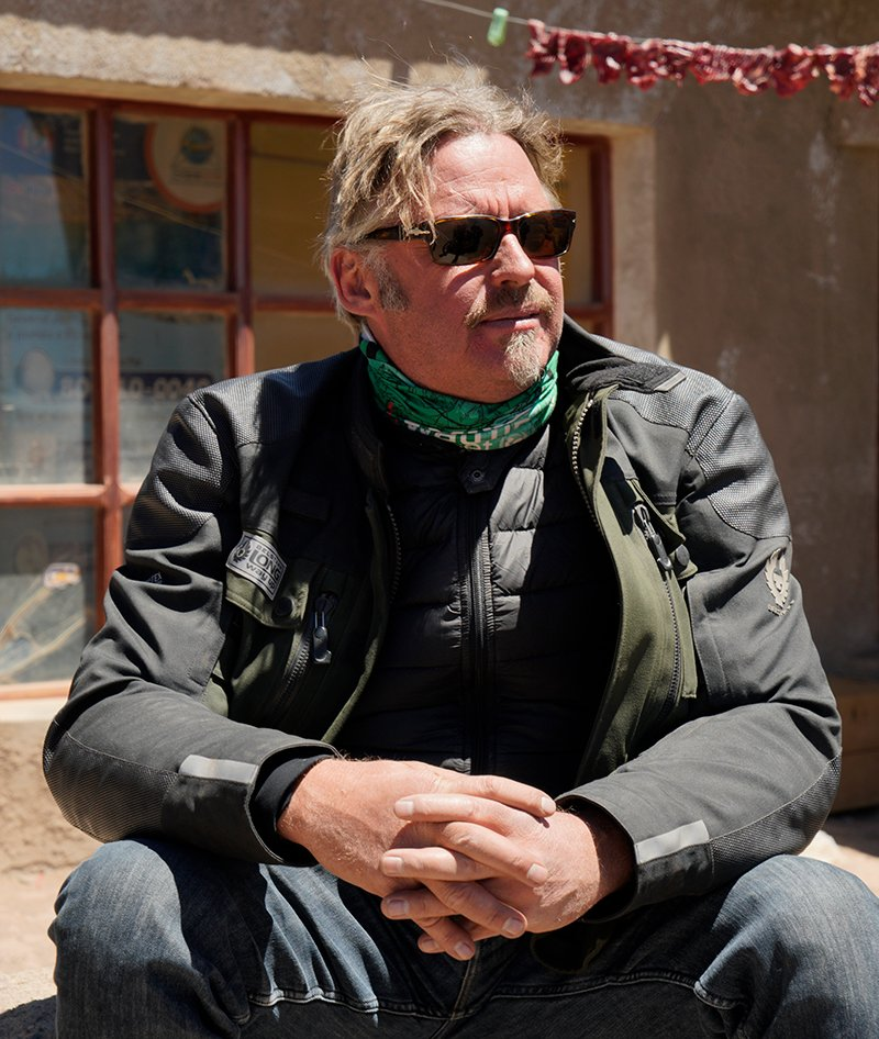 Charley Boorman Long Way Up lifestyle