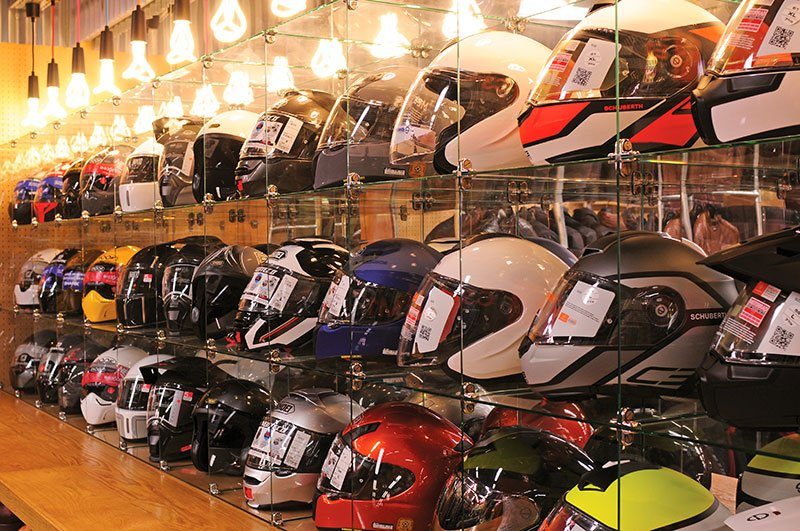 Motorcycle helmet display