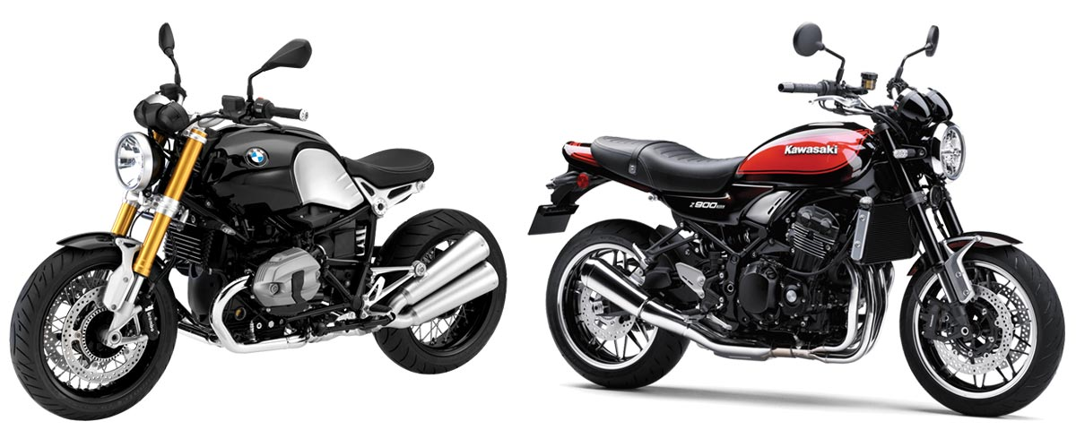 BMW R nine T and Kawasaki Z900RS