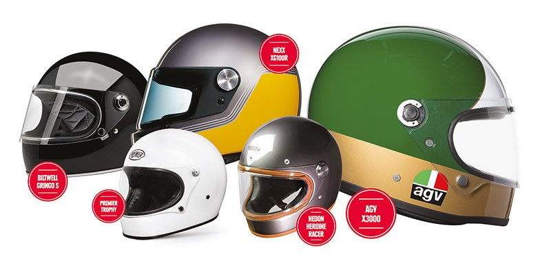 Retro helmet selection