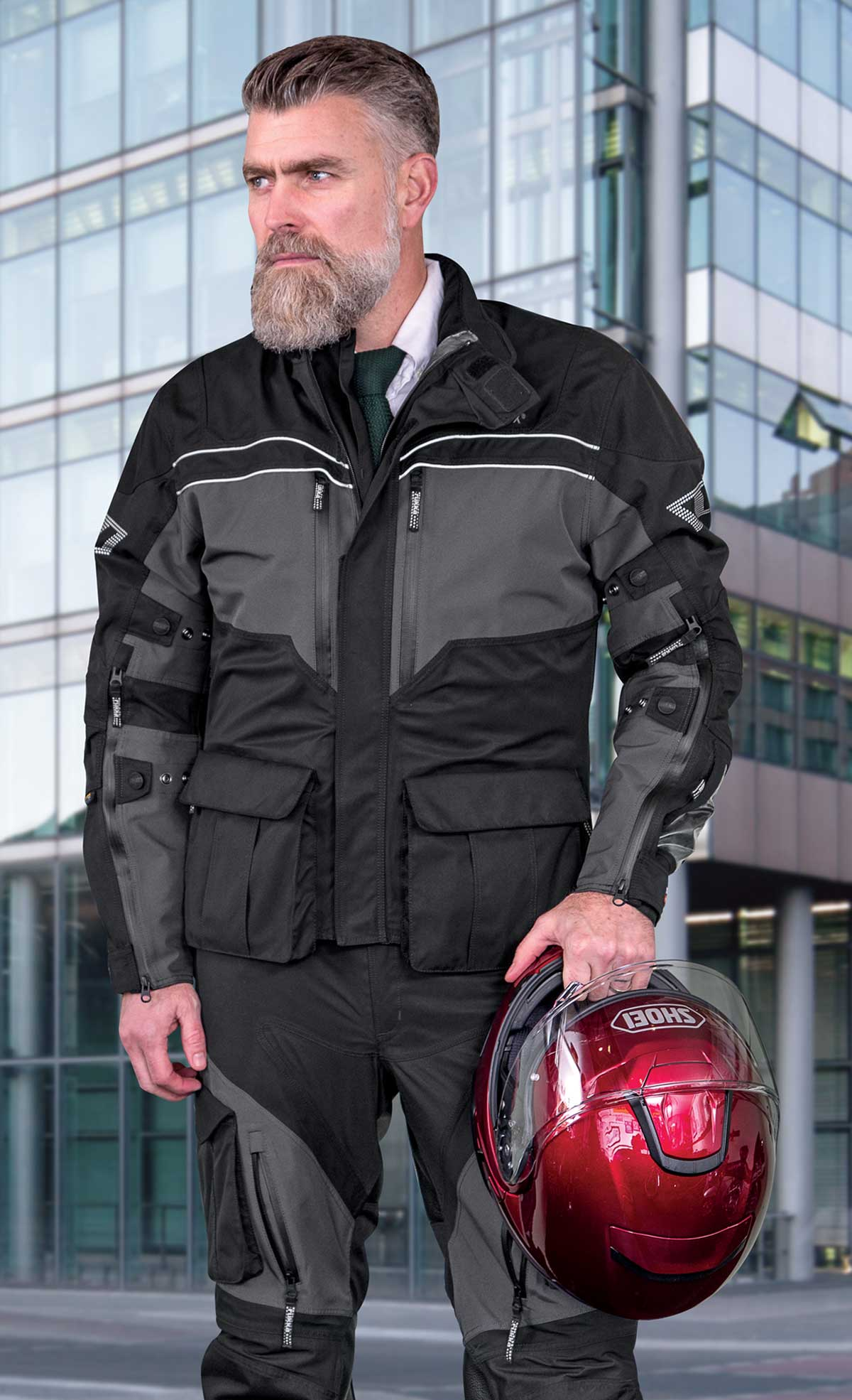 Rukka Overpass jacket and pant lifestyle