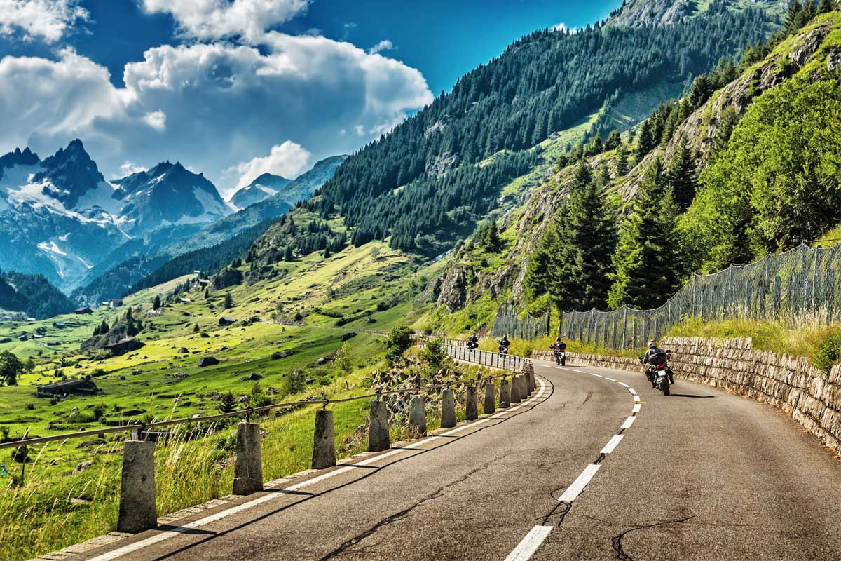 Travelling around the world on a motorcycle